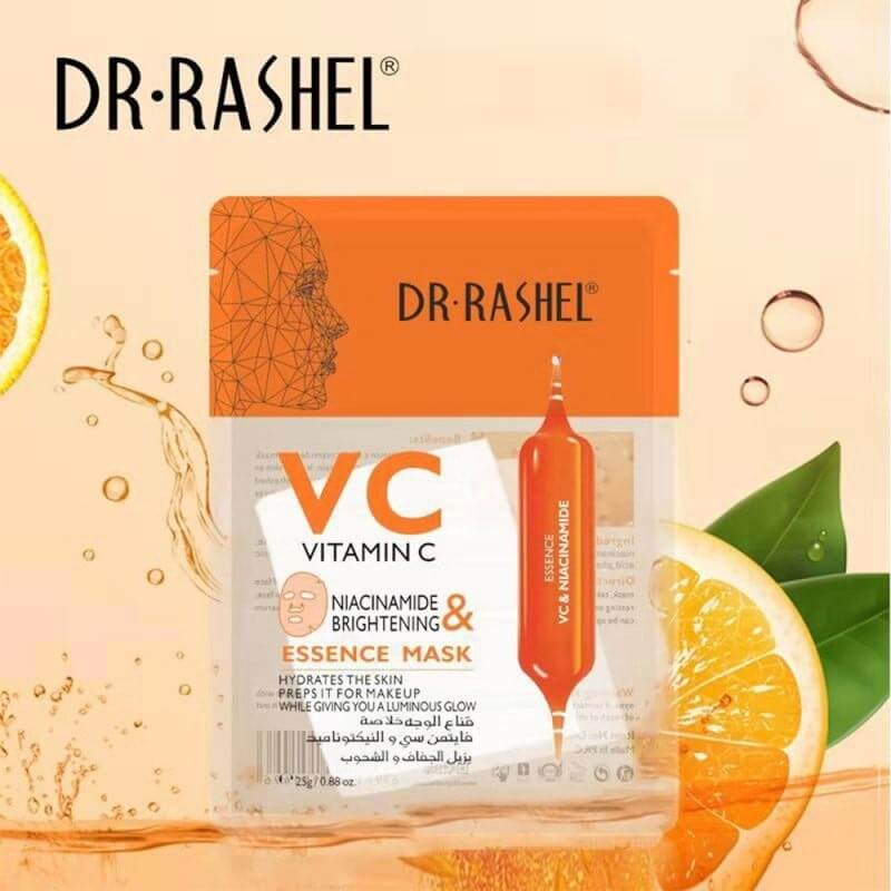 Buy Dr Rashel Vitamin C Face Mask Niacinamide & Brightening Essence 1 Pcs |  Eshaistic