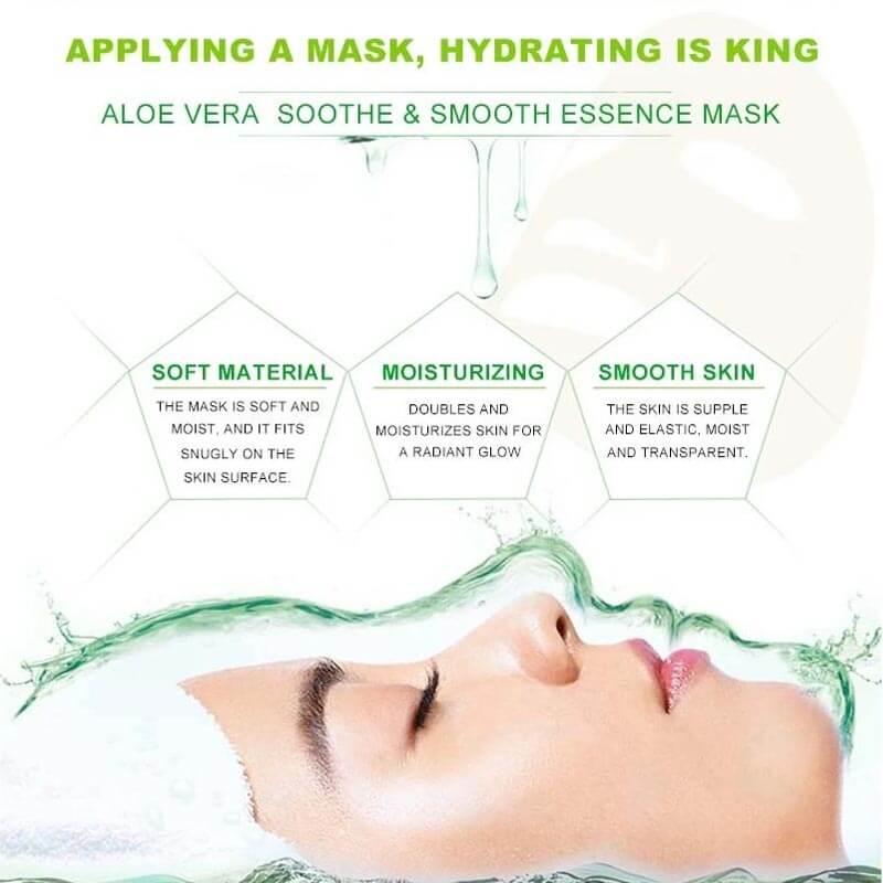 Buy Dr. Rashel Aloe Vera Face Mask Soothe & Smooth Essence 1 Pcs   Eshaistic