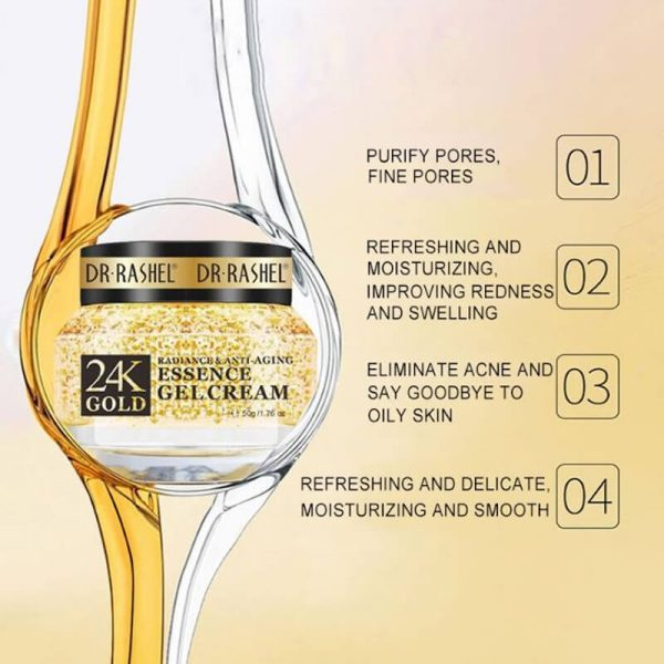 Buy DR.RASHEL 24K Gold Radiance & Anti-aging Essence Gel Cream - 50g |  Eshaistic